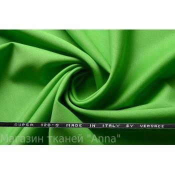 Костюмная шерсть Versace super 120 - ярко-зеленый