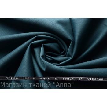 Костюмная шерсть Versace super 120 - темно лазурный