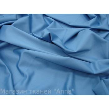 Костюмная шерсть спокойного синего цвета