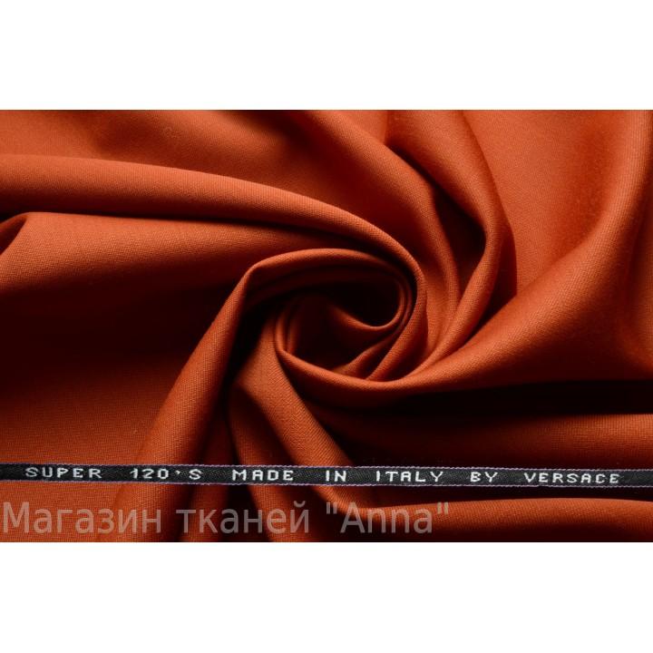 Оттенок оранжевого - красное дерево, мягкая тонкая костюмная шерсть.