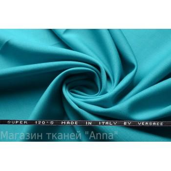 Костюмная ткань цвета морской волны