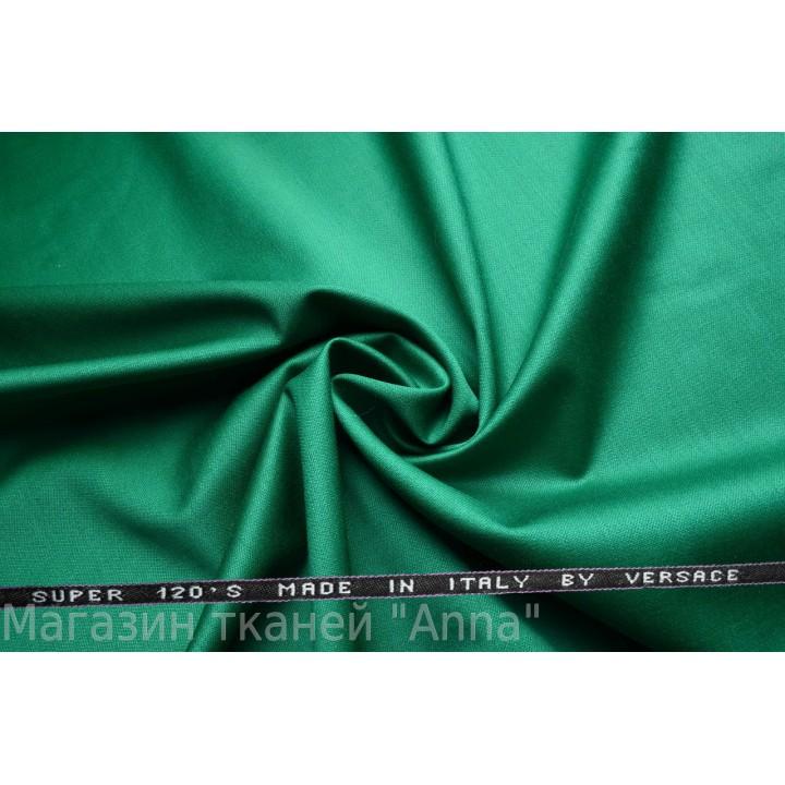 Зеленый - темный нефритовый, мягкая тонкая костюмная шерсть.