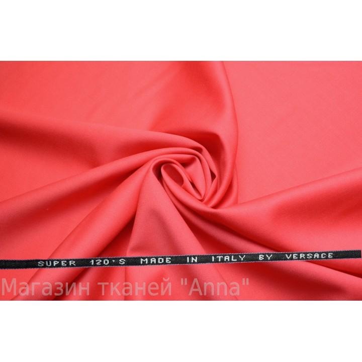 розовый-лососевый, мягкая тонкая костюмная шерсть.