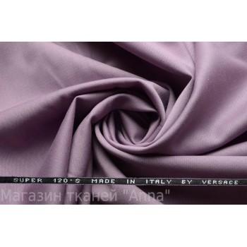 Костюмная шерсть Versace super 120 - серо-сиреневый