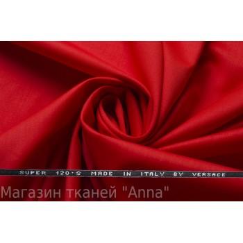 Костюмная шерсть Versace super 120 - цвет Алый