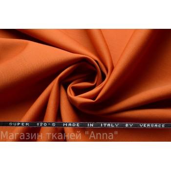Костюмная шерсть Versace super 120 - рыжий