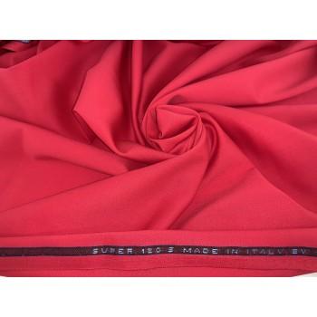 Ярко-красная с малиновым оттенком костюмная шерсть Versace