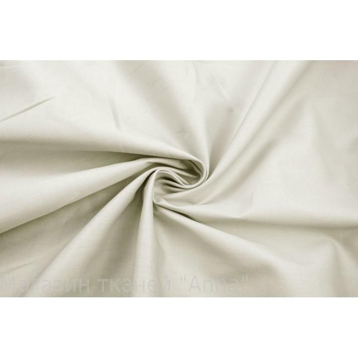 Гладкий тонкий серо-бежевый хлопок для платья или рубашки