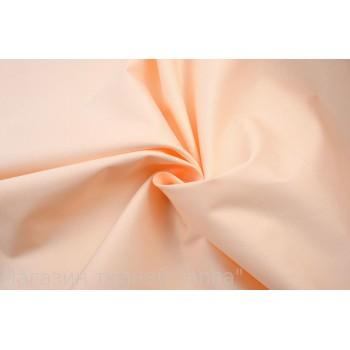 Коттон с эластаном теплого персикового цвета