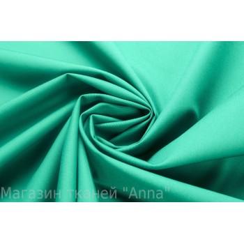 Ярко-бирюзовый Коттон для платья или костюма