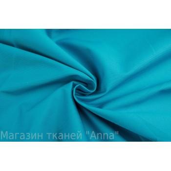 Коттон-стрейч цвета морской волны - плотный хлопок для одежды
