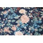 Хлопок для платья или брюк - цветы на темном синем фоне