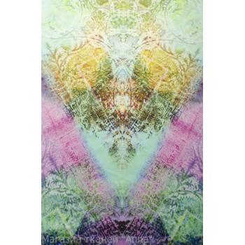 Цветной хлопок-стрейч - ткань купонная