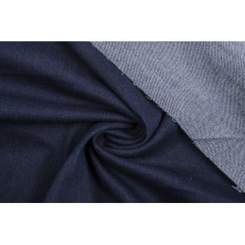 Темно-синий классический джинс