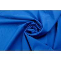 Ярко-синий хлопок-стрейч плотного полотняного переплетения