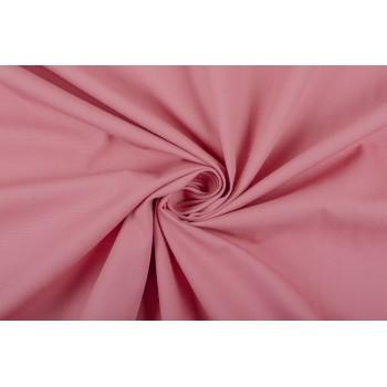 Костюмный хлопок теплого розового оттенка