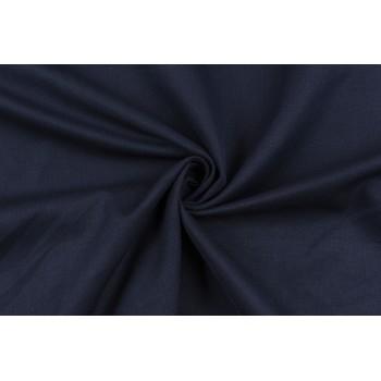 Темно-синий коттон в диагональнй рубчик