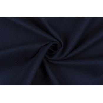 Темно-синий коттон с рельефной поверхностью