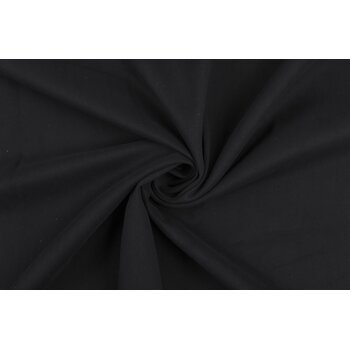 Черный гладкий костюмно-плательный коттон