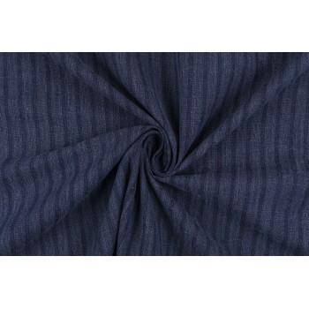 Мягкий джинс темно-синего цвета с продольной полоской
