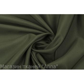 Пастельный темно-зеленый оттенок крепдешина