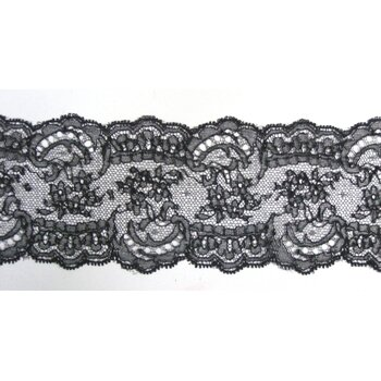 Кружево Шантильи Dentelles Mery №34245-6-7-noir