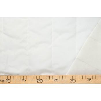 Молочная курточная ткань с синтепоном и крупной стежкой