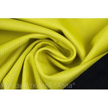 Ярко-салатовая курточная ткань с перфорацией