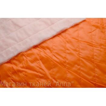 Стеганая оранжевая ткань для куртки или подкладки