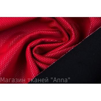 Красная курточная ткань с перфорацией