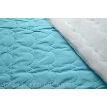 Голубая курточная ткань с синтепоном