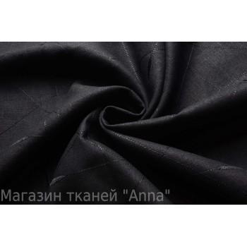 Черный мягкий лен с вышитым узором