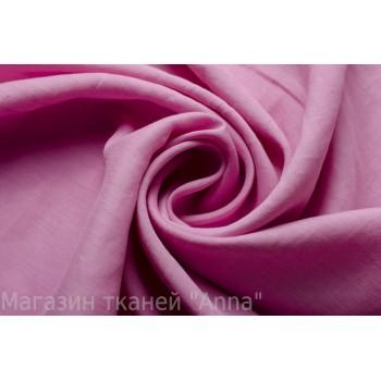 Мягкий струящийся Лен стрейч розового цвета