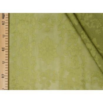 Красивый лен с узором в зеленом цвете