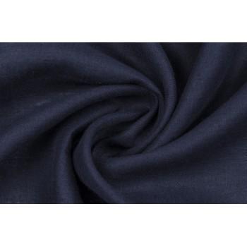 Мягкий лен для платья в темно синем цвете