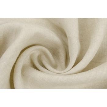 Мягкий лен для костюма натурального цвета