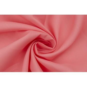Льняная ткань с добавлением вискозы в теплом коралловом цвете