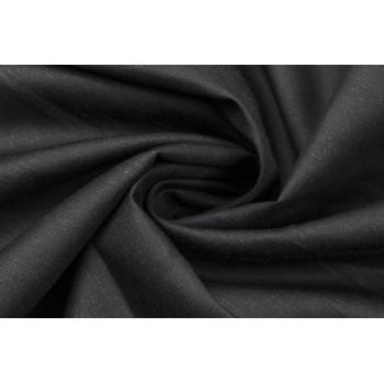 Черный лен для платья или костюма