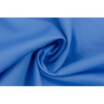 Лен насыщенного голубого цвета, мягкий, струящийся