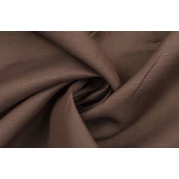 Мягкий лен коричневого оттенка с добавлением вискозы