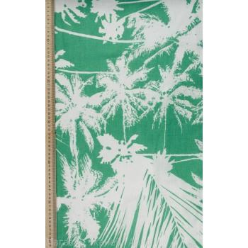 """Плательный лен с принтом """"пальмы"""""""