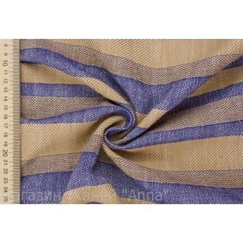 Бежего-синий лен для платья