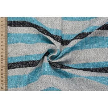 Мягкая бирюзово-синяя ткань для летнего костюма