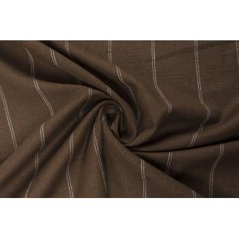 Тонкий мягкий лен коричневого цвета