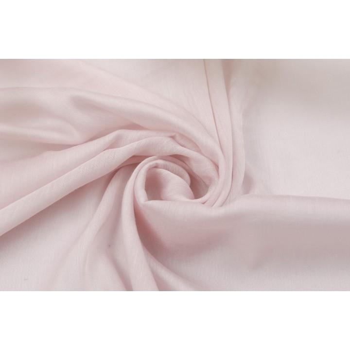 Бледно розовый полупрозрачный шелковый батист маркизет