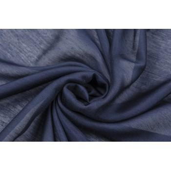 Полупрозрачный темно синий маркизет