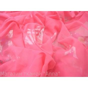 Маркизет крэш малинового цвета