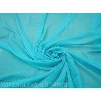 Маркизет-крэш бирюзового цвета
