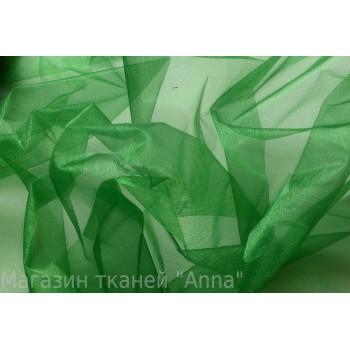 Зеленая органза - тонка и хорошо держит форму