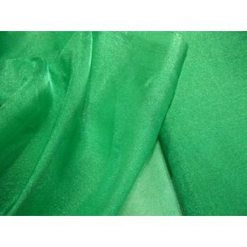 Зеленая органза с блеском - мягкая